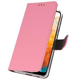 Wallet Cases Hoesje voor Huawei Y6 Pro 2019 Roze