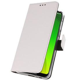 Wallet Cases Case for Motorola Moto G7 Power White