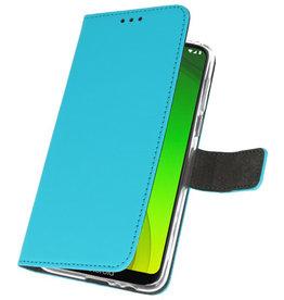 Wallet Cases Case for Motorola Moto G7 Power Blue