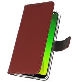 Wallet Cases Case for Motorola Moto G7 Power Brown