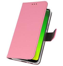Wallet Cases Case for Motorola Moto G7 Power Pink