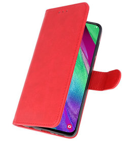 Bookstyle Wallet Cases Hülle für Galaxy A40 Rot