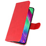 Bookstyle Wallet Cases Hoesje voor Galaxy A40 Rood