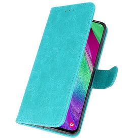 Bookstyle Wallet Cases Hülle für Galaxy A40 Grün