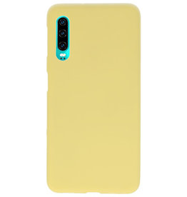 Color TPU case for Huawei P30 yellow