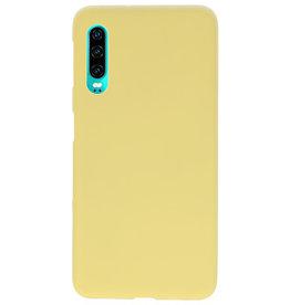 Farbe TPU Fall für Huawei P30 gelb