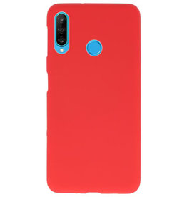 Color TPU case for Huawei P30 Lite red