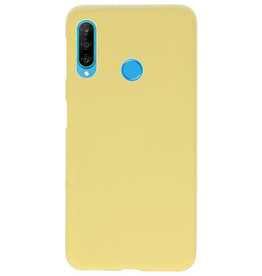 Color TPU case for Huawei P30 Lite yellow