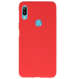 Color TPU case for Huawei Y6 (Prime) 2019 red