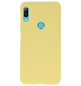 Color TPU case for Huawei Y6 (Prime) 2019 yellow
