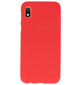 Color TPU case for Samsung Galaxy A10 red