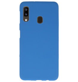 Color TPU Hoesje voor Samsung Galaxy A20 Navy