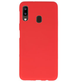 Color TPU case for Samsung Galaxy A20 red