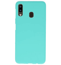 Color TPU case for Samsung Galaxy A20 Turquoise