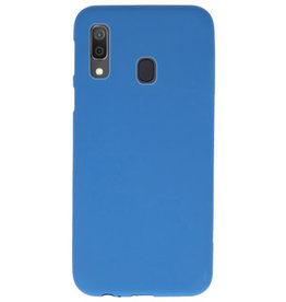 Color TPU case for Samsung Galaxy A30 Navy