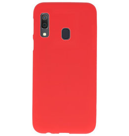 Color TPU case for Samsung Galaxy A30 red