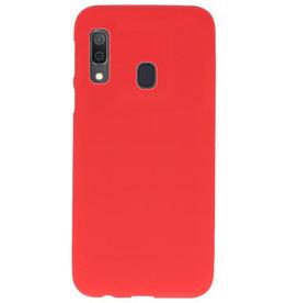 Color TPU Hoesje voor Samsung Galaxy A30 Rood