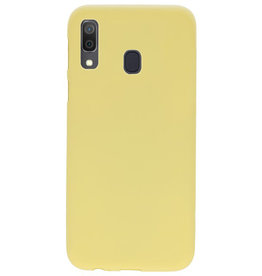 Color TPU case for Samsung Galaxy A30 Yellow