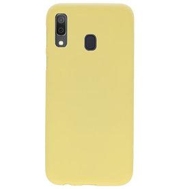 Farbe TPU Fall für Samsung Galaxy A30 Gelb