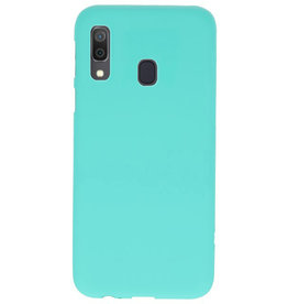 Farbe TPU Fall für Samsung Galaxy A30 Türkis