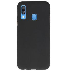 Color TPU case for Samsung Galaxy A40 black
