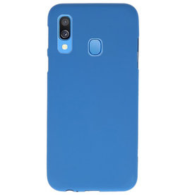 Color TPU case for Samsung Galaxy A40 Navy