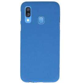 Farbe TPU Fall für Samsung Galaxy A40 Navy