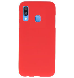 Color TPU case for Samsung Galaxy A40 red