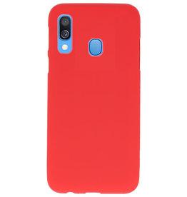 Farbe TPU Fall für Samsung Galaxy A40 rot