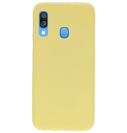 Color TPU case for Samsung Galaxy A40 yellow
