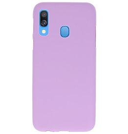 Color TPU case for Samsung Galaxy A40 Purple