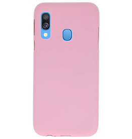 Color TPU case for Samsung Galaxy A40 Pink