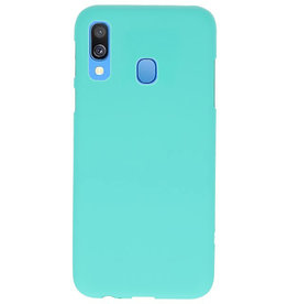 Color TPU case for Samsung Galaxy A40 Turquoise