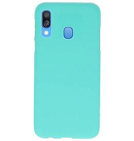 Farbe TPU Fall für Samsung Galaxy A40 Türkis