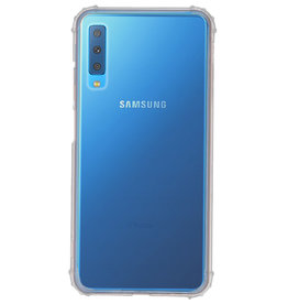 Shockproof transparent TPU case for Galaxy A7 2018