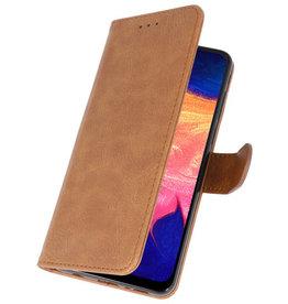 Bookstyle Wallet Cases Hülle für Samsung Galaxy A10 Braun