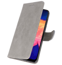 Bookstyle Wallet Cases Hülle für Samsung Galaxy A10 Grau
