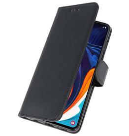 Bookstyle Wallet Cases Hülle für Samsung Galaxy A60 Schwarz