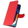 Bookstyle Wallet Cases Hülle für Samsung Galaxy A60 Red
