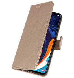 Bookstyle Wallet Cases Case for Samsung Galaxy A60 Gold