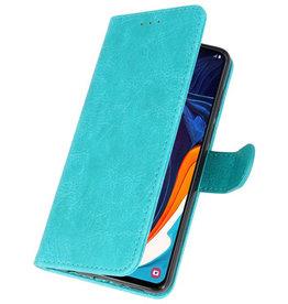 Bookstyle Wallet Cases Hülle für Samsung Galaxy A60 Grün