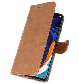 Bookstyle Wallet Cases Hülle für Samsung Galaxy A60 Braun