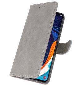 Bookstyle Wallet Cases Hülle für Samsung Galaxy A60 Grau