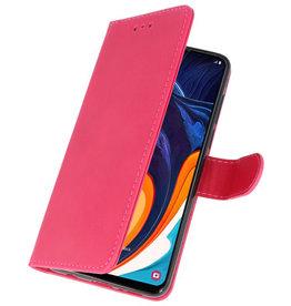 Bookstyle Wallet Cases Hülle für Samsung Galaxy A60 Pink