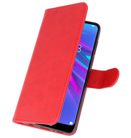 Bookstyle Wallet Cases Hülle für Huawei Y6 / Y6 Prime 2019 Rot