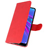 Bookstyle Wallet Cases Hoesje voor Huawei Y6 / Y6 Prime 2019 Rood