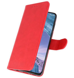 Bookstyle Wallet Cases Case for Nokia X71 Red