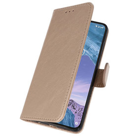 Bookstyle Wallet Cases Case for Nokia X71 Gold