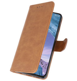 Bookstyle Wallet Cases Case for Nokia X71 Brown