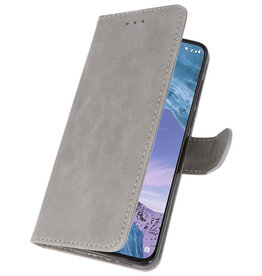 Bookstyle Wallet Cases Case for Nokia X71 Gray